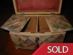 Victorian Antique Mother-of-Pearl Tea Caddy