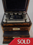 Victorian Coromandel  Domed Top Travelling Box c.1870