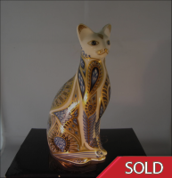 Royal Crown Derby Paperweight - Blue Point Siamese Cat