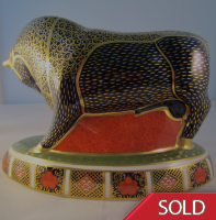 Royal Crown Derby Paperweight -  Bull