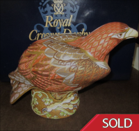 Royal Crown Derby Paperweight - Prestige  Golden Eagle -  Rare