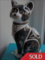 "Royal Crown Derby Paperweight ""War Cat"""
