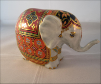 Royal Crown Derby Paperweight - Mulberry Hall Baby Elephant