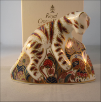 Royal Crown Derby Paperweight - Bengal Tiger Cub