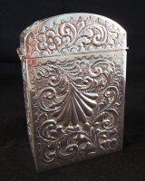 Silver Playing Card Case/Casket Birmingham 1901