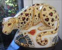 Royal Crown Derby Paperweight- Savannah Leopard
