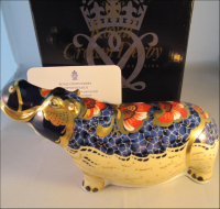 Crown Derby Paperweight- Hippopotamus Limited Edition