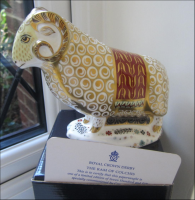 "Royal Crown Derby Paperweight ""The Ram of Colchis"""