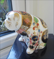 "Royal Crown Derby Paperweight ""Old Imari Bulldog"""