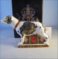 Royal Crown Derby Paperweight - Imari Staffordshire Bull Terrier