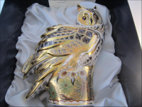 Royal Crown Derby Paperweight - Prestige Long Eared Owl Limited Edition