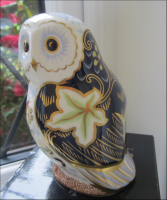 Royal Crown Derby Paperweight - Twilight Owl