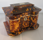 Rare Tortoiseshell and Ivory Tea Caddy