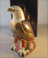 "Royal Crown Derby Paperweight ""Bald Eagle"""