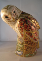 Royal Crown Derby Paperweight - Prestige Barn Owl Limited Edition