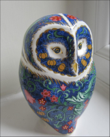 Royal Crown Derby Paperweight - Periwinkle Owl