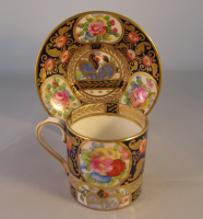 Crown Staffordshire Coffee Can and Saucer