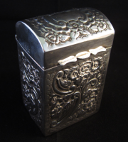 Victorian Silver Playing Card Box Birmingham 1900
